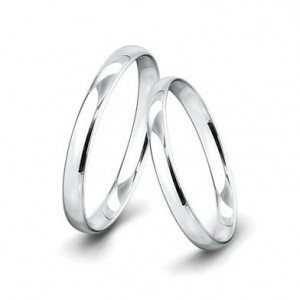 Alianza de Boda Lovely de Oro Blanco 1 Diamantes y 0,010 ct