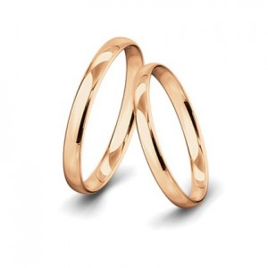 Anillo de Boda Amy de Oro Rosa 1 Diamantes y 0,010 ct