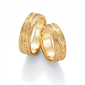 Anillo de Boda de Oro Amarillo de 0,045 ct y 6,7 mm