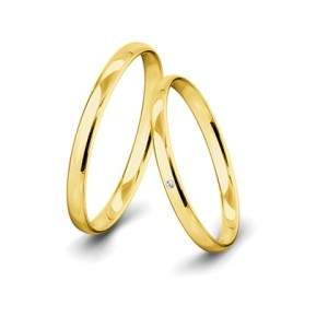 Anillo Aimee de Oro Amarillo 1 Diamantes y 0,010 ct