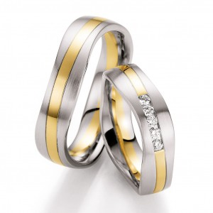 Anillo de Oro blanco-Oro Amarillo-Oro Blanco de 5 Diamantes de 0,15 ct Unlimited Ref. 66-10450-055WGW