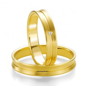 Anillo de Boda Amarillo de  0.01ct y 4mm
