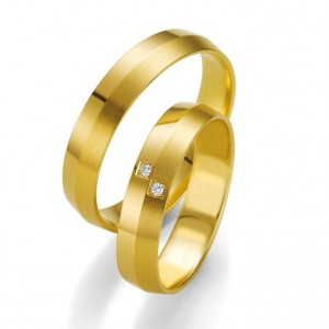 Anillo de Boda Amarillo de  0.02ct y 4,5mm