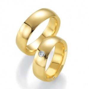 Alianza de Boda Amarillo de  0.166ct y 7mm small