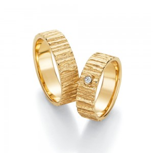 Anillo de Boda de Oro Amarillo de 0,04 ct y 6 mm